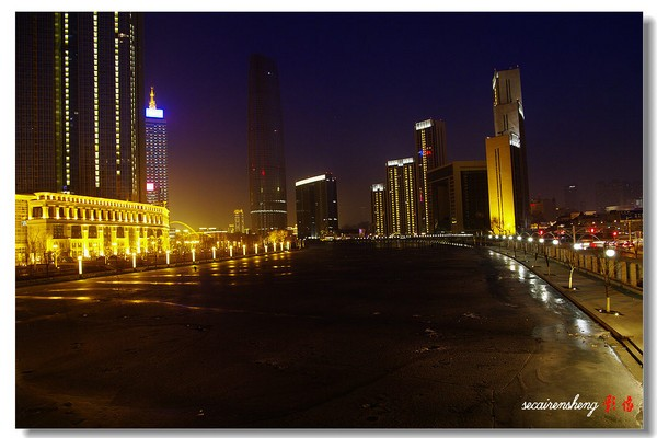 天津北安桥附近夜景